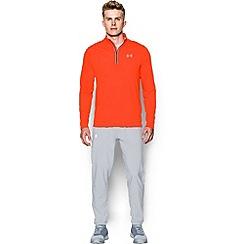 Under Armour - Orange 'Threadborne ' streaker 1/4 zip warm up top