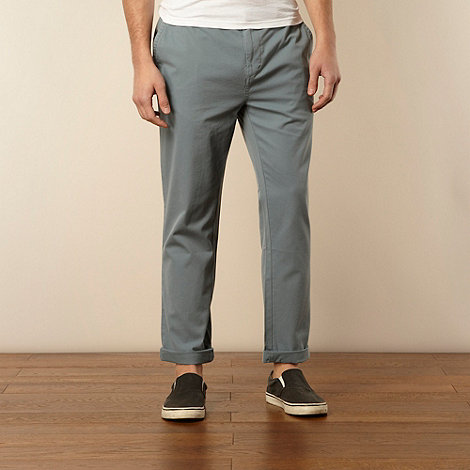 Farah - Pale green rolled hem straight leg chinos