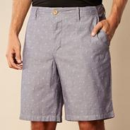 Blue chambray rolled shorts
