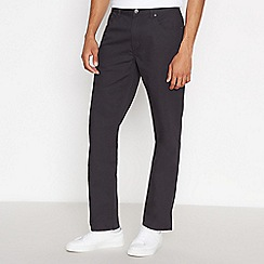 Ben Sherman - Black corduroy straight leg trousers
