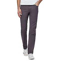 Ben Sherman - Grey corduroy straight leg trousers