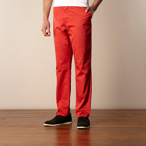 Fred Perry - Red straight leg twill chinos