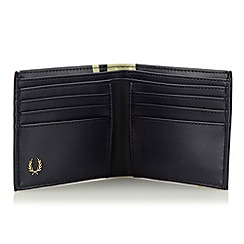 Fred Perry - Navy striped faux leather wallet