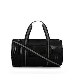 Fred Perry - Black classic barrel bag