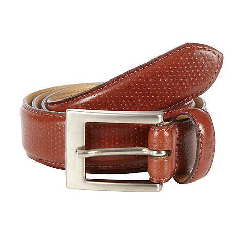 Fred Perry - Tan perforated leather belt