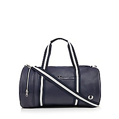 Fred Perry - Navy textured barrel bag
