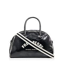 Fred Perry - Black logo print holdall bag
