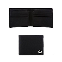Fred Perry - Black textured billfold wallet