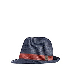 Fred Perry - Navy straw trilby hat