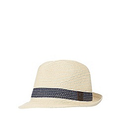 Fred Perry - Natural straw trilby hat