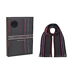 J by Jasper Conran - Grey stripe scarf in a gift box