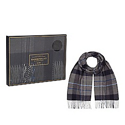 Hammond & Co. by Patrick Grant - Grey and blue check scarf in a gift box