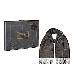 Hammond & Co. by Patrick Grant - Grey check scarf in a gift box