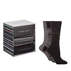 Calvin Klein - Pack of three assorted stripe socks