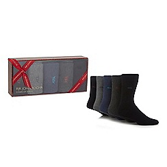 RJR.John Rocha - Pack of five assorted logo socks in a gift box