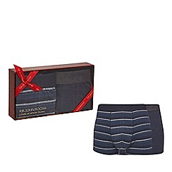 RJR.John Rocha - Pack of two navy hipster trunks in a gift box