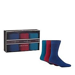J by Jasper Conran - Pack of three assorted logo socks in a gift box