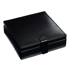 Debenhams Basics - Black cufflink box