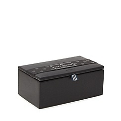 Jeff Banks - Black pebbled watch box