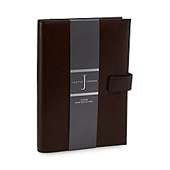 J by Jasper Conran - Brown leather large diary