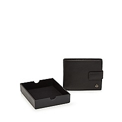 Jeff Banks - Black leather wallet in coin tray