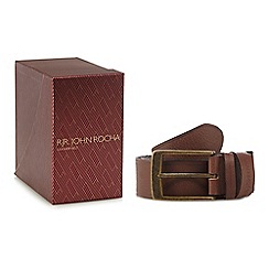 RJR.John Rocha - Tan leather belt in a gift box