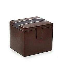 J by Jasper Conran - Tan leather watch and cufflink box