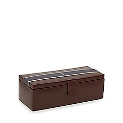 J by Jasper Conran - Tan leather watch box