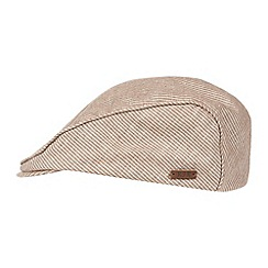 RJR.John Rocha - Designer light brown linen flat cap