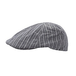 J by Jasper Conran - Designer navy striped flat cap