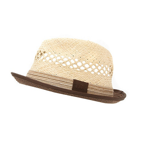 RJR.John Rocha - Designer natural two tone trilby hat