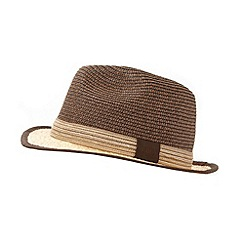 RJR.John Rocha - Designer brown two tone trilby hat