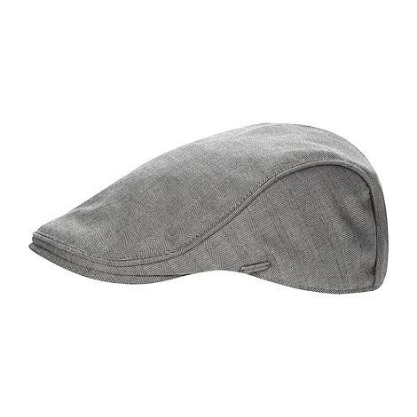 J by Jasper Conran - Designer grey herringbone flat cap