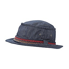 Red Herring - Blue woven band denim hat