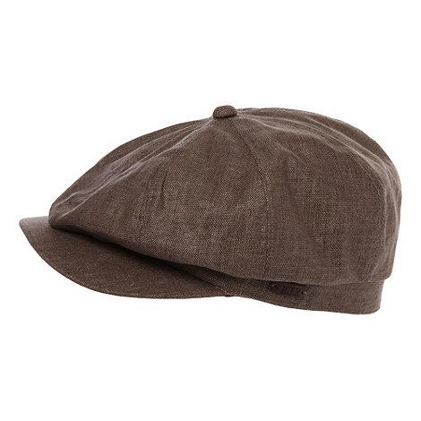 RJR.John Rocha - Designer brown linen mix baker boy cap