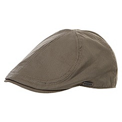 J by Jasper Conran - Designer taupe pin striped flat cap