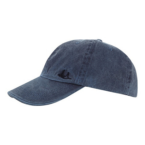 Mantaray - Blue washed fabric baseball cap