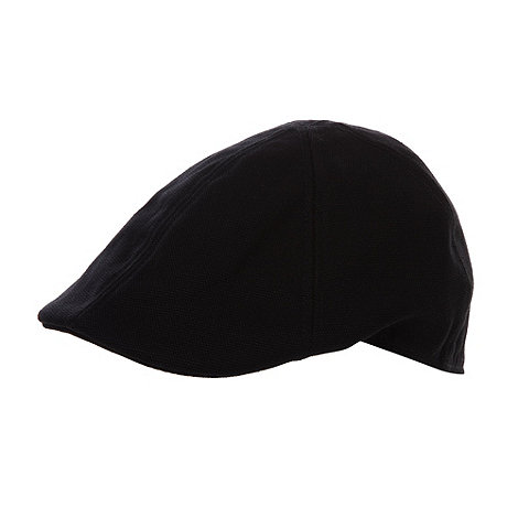 Red Herring - Black canvas flat cap
