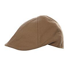 Red Herring - Tan twill flat cap
