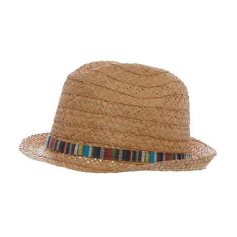 Mantaray - Natural straw striped hat