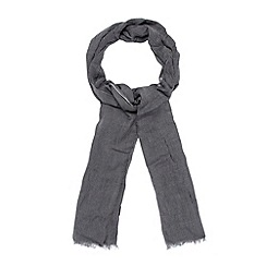 J by Jasper Conran - Designer grey plain and striped scarf