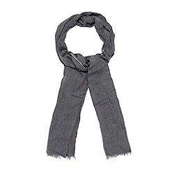 J by Jasper Conran - Designer grey plain and striped scarf