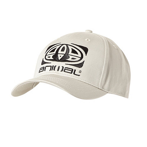Animal - Natural twill peaked baseball cap
