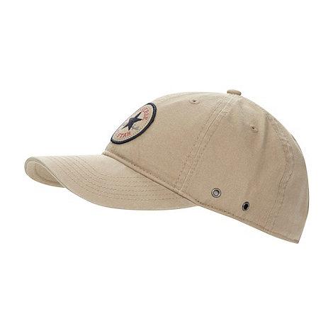 Converse - Taupe +Chuck Taylor+ patch baseball cap