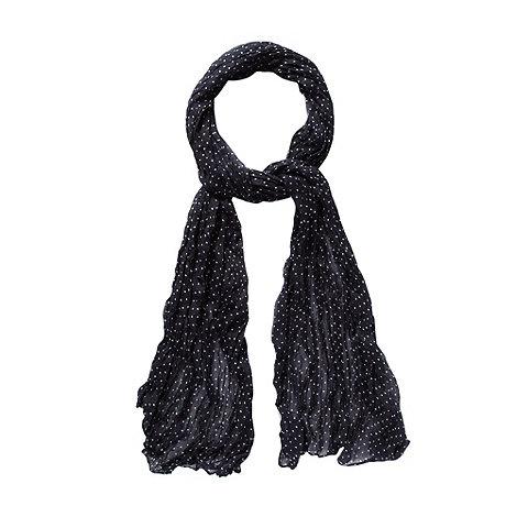 J by Jasper Conran - Designer navy polka dot scarf