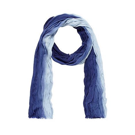 Mantaray - Blue dip dye woven scarf