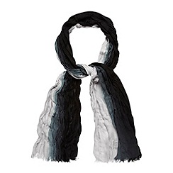 Mantaray - Black woven dip dye scarf