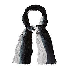 Mantaray - Black woven dip dye scarf