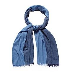 J by Jasper Conran - Designer blue pinstriped scarf