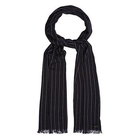 J by Jasper Conran - Designer navy pinstriped scarf